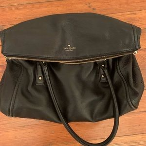 Black leather Kate Spade bag. Great used condition